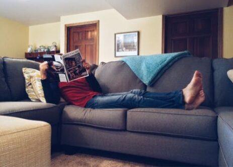 Sofa og træning i samme hus